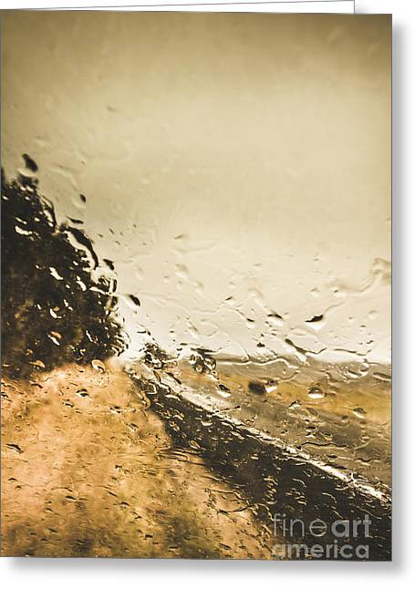 Storming Highway Greeting Card