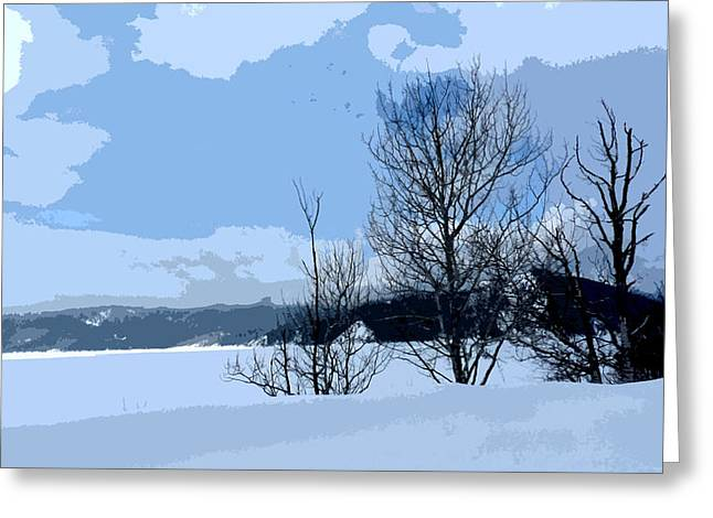Winter Storm Greeting Cards - Storms abrewin Greeting Card by David Bearden