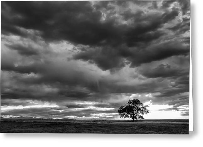 Storms Clouds Passing Greeting Card by Monte Stevens