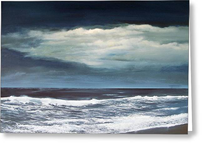 Greeting Card featuring the painting Storms Never Last by Ken Ahlering