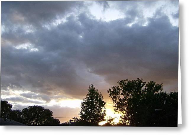 Storms On The Horizon Greeting Card by Skyler Tipton