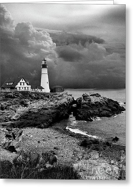 Storms Over The Head Bnw Greeting Card