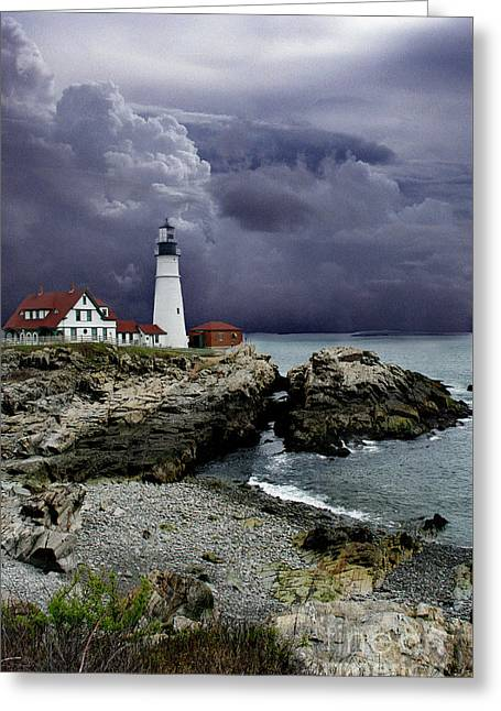 Storms Over The Head Greeting Card