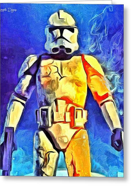 Stormtrooper Commander - Da Greeting Card by Leonardo Digenio