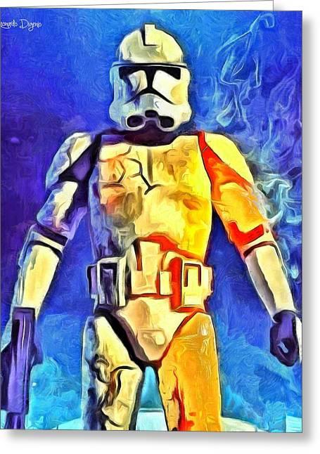 Stormtrooper Commander Greeting Card by Leonardo Digenio