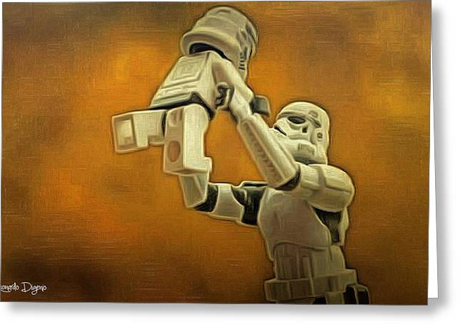 Stormtrooper Family - Da Greeting Card by Leonardo Digenio