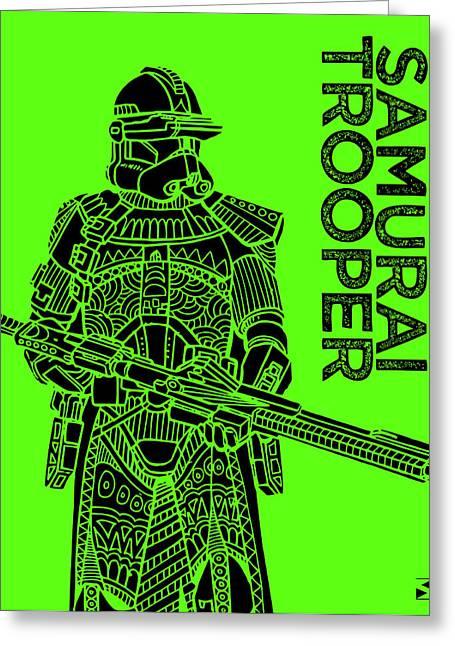 Stormtrooper - Green - Star Wars Art Greeting Card