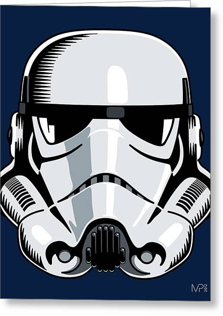 Stormtrooper Greeting Card by IKONOGRAPHI Art and Design