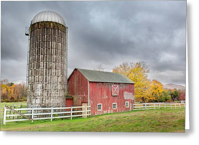 Stormy Autumn Skies Greeting Card by Bill Wakeley