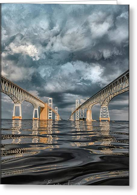 Stormy Chesapeake Bay Bridge Greeting Card