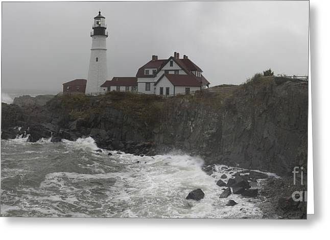 Greeting Card featuring the photograph Stormy Coast by David Bishop