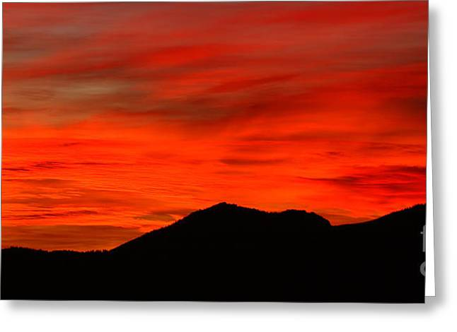 Stormy Colorado Sunrise Greeting Card by Max Allen