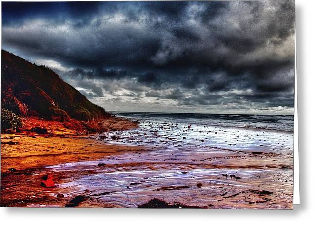 Stormy Day Greeting Card by Blair Stuart