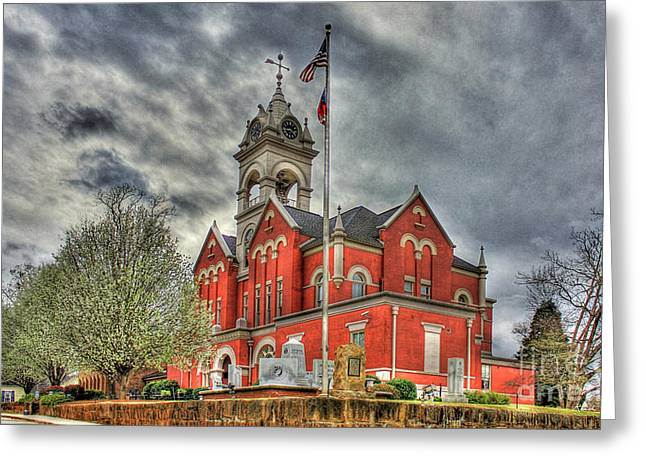 Stormy Day Jones County Georgia Court House Art Greeting Card by Reid Callaway