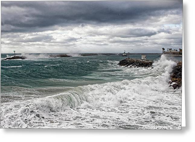 Stormy Day On Redondo Greeting Card