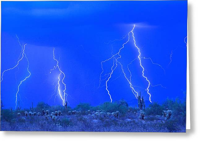 Stormy Desert Greeting Card