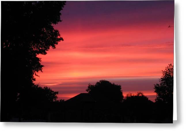 Stormy Evening Sky Greeting Card by Frederic Kohli