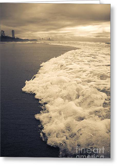 Stormy Gold Coast Beachfront Greeting Card by Jorgo Photography - Wall Art Gallery