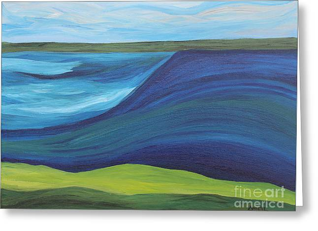Stormy Lake Greeting Card
