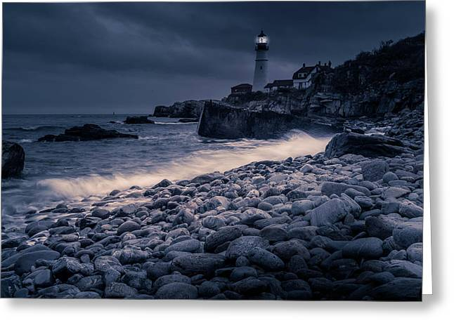 Stormy Lighthouse 2 Greeting Card