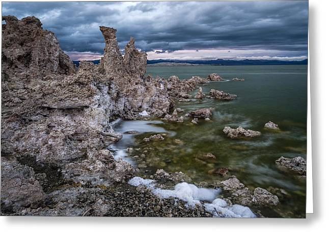Stormy Mono Lake Greeting Card by Cat Connor