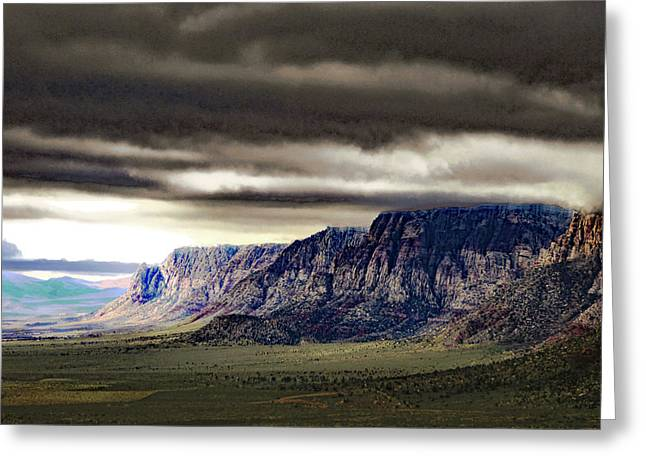 Stormy Morning In Red Rock Canyon Greeting Card by Alan Socolik