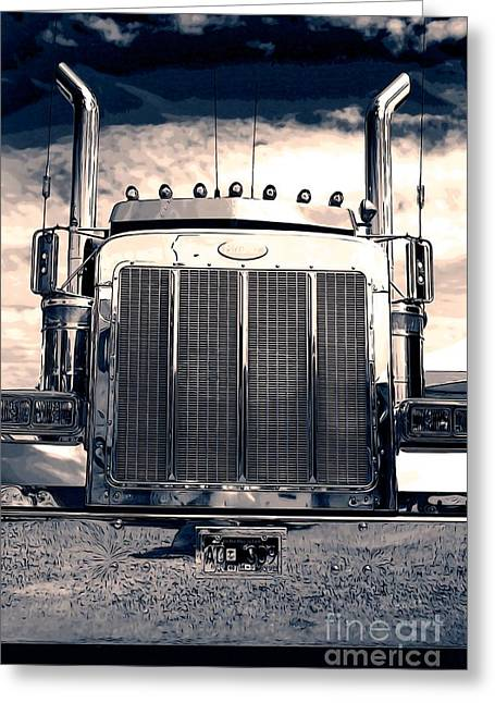 Stormy Night Peterbilt Greeting Card