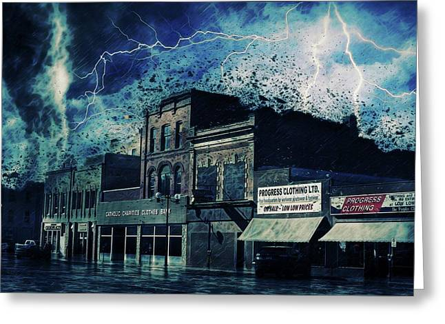 Stormy Night Greeting Card by Terry Fleckney
