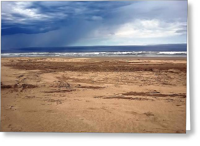 Stormy Nye Beach Greeting Card