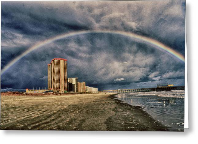 Greeting Card featuring the photograph Stormy Rainbow by Kelly Reber