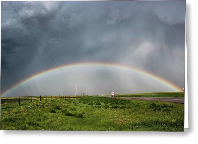 Stormy Rainbow Greeting Card