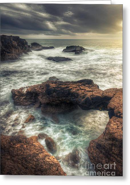 Stormy Seascape Greeting Card by Carlos Caetano
