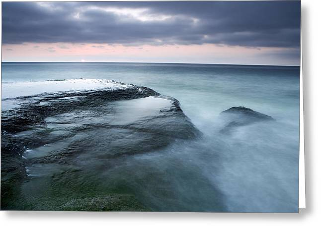 Stormy Shore Greeting Card by Eric Foltz