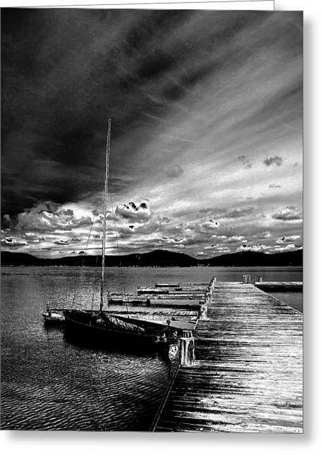 Stormy Skies Greeting Card by David Patterson