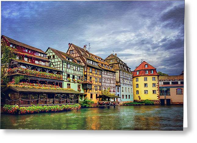 Stormy Skies In Strasbourg Greeting Card