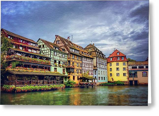 Stormy Skies In Strasbourg Greeting Card by Carol Japp