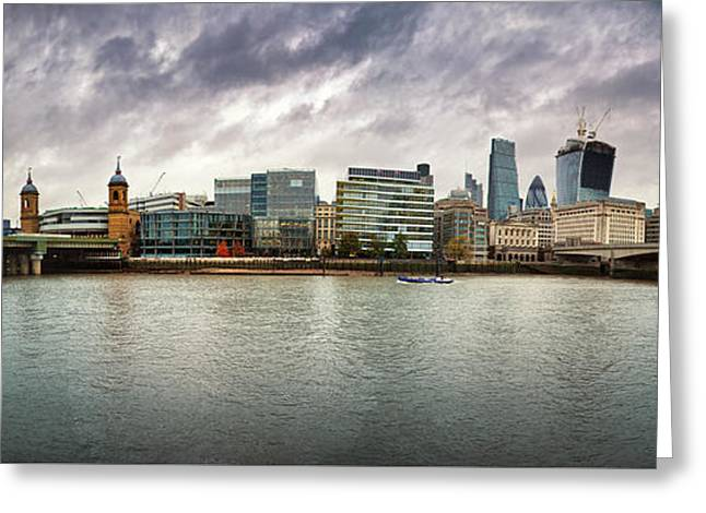 Stormy Skies Over London Greeting Card by Jane Rix