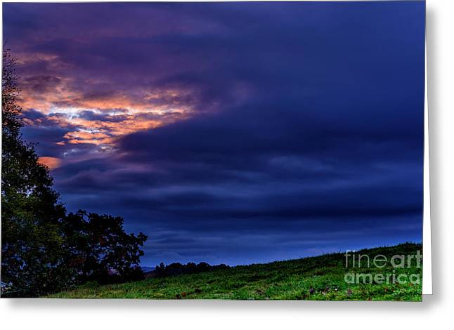 Stormy Sky At Sunrise Greeting Card by Thomas R Fletcher