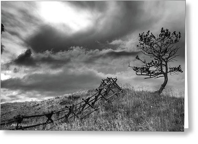 Stormy Sky At The Ranch Greeting Card