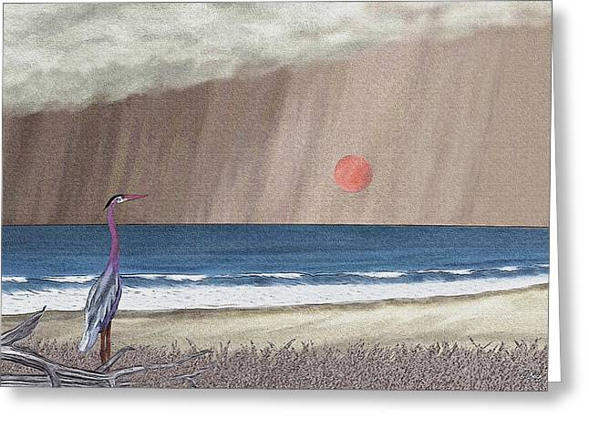 Stormy Sky Greeting Card by Gordon Beck