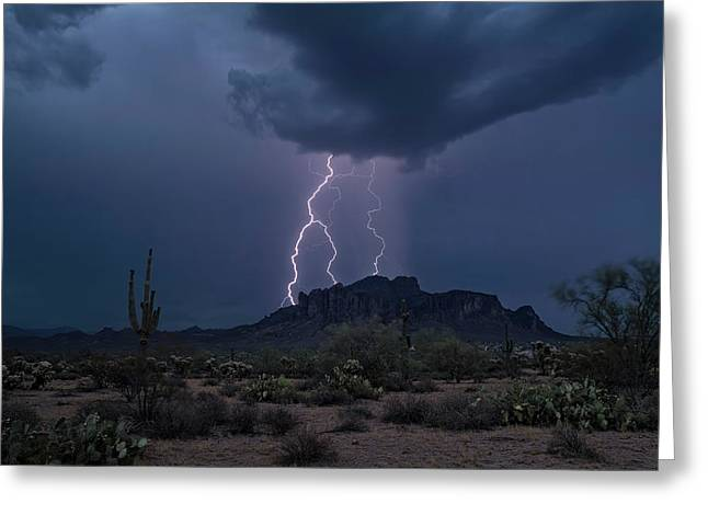 Stormy Sonoran Evening  Greeting Card