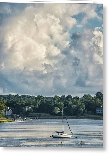 Stormy Sunday Morning On The Navesink River Greeting Card