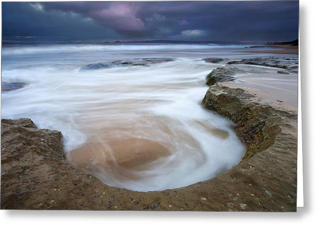Stormy Sunrise Greeting Card by Mike  Dawson