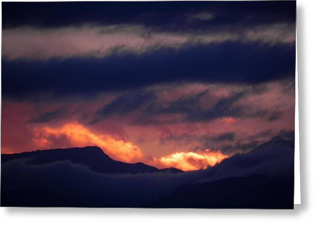 Stormy Sunset Greeting Card by Adrienne Petterson