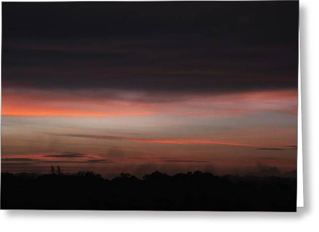 Greeting Card featuring the photograph Stormy Sunset by Mark Dodd