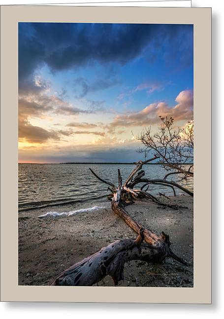 Stormy Sunset Greeting Card by Marvin Spates