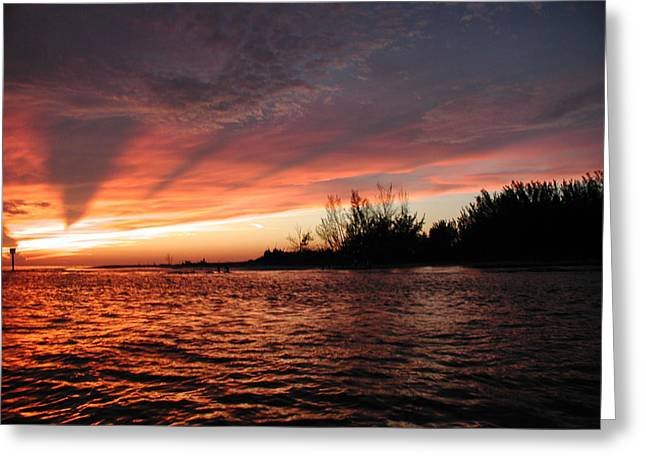 Greeting Card featuring the photograph Stormy Sunset by Nancy Taylor