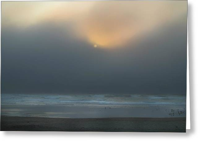 Greeting Card featuring the photograph Stormy Sunset Oregon Coast by Yulia Kazansky