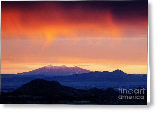 Greeting Card featuring the photograph Stormy Sunset by Scott Kemper