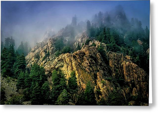 Stormy Wasatch- Fog Greeting Card